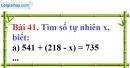 Bài 41 trang 30 Vở bài tập toán 6 tập 1