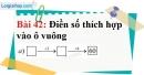 Bài 42 trang 31 Vở bài tập toán 6 tập 1