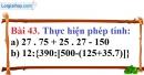 Bài 43 trang 32 Vở bài tập toán 6 tập 1