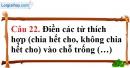Phần câu hỏi bài 10 trang 33, 34 Vở bài tập toán 6 tập 1