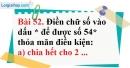 Bài 52 trang 37 Vở bài tập toán 6 tập 1
