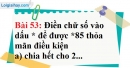 Bài 53 trang 37 Vở bài tập toán 6 tập 1