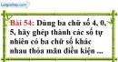 Bài 54 trang 38 Vở bài tập toán 6 tập 1
