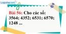 Bài 56 trang 39 Vở bài tập toán 6 tập 1