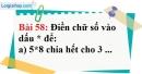 Bài 58 trang 40 Vở bài tập toán 6 tập 1