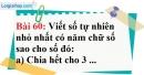 Bài 60 trang 41 Vở bài tập toán 6 tập 1