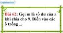 Bài 62 trang 42 Vở bài tập toán 6 tập 1