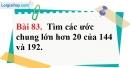 Bài 83 trang 58 Vở bài tập toán 6 tập 1