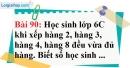 Bài 90 trang 63 Vở bài tập toán 6 tập 1