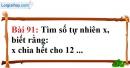 Bài 91 trang 63 Vở bài tập toán 6 tập 1