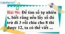 Bài 96 trang 66 Vở bài tập toán 6 tập 1