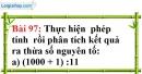 Bài 97 trang 66 Vở bài tập toán 6 tập 1