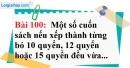 Bài 100 trang 68 Vở bài tập toán 6 tập 1