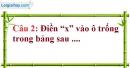 Phần câu hỏi bài 2 trang 74 Vở bài tập toán 6 tập 1