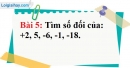 Bài 5 trang 75 Vở bài tập toán 6 tập 1