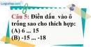 Phần câu hỏi bài 3 trang 76 Vở bài tập toán 6 tập 1