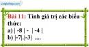 Bài 11 trang 78 Vở bài tập toán 6 tập 1