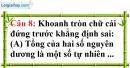 Phần câu hỏi bài 4 trang 79 Vở bài tập toán 6 tập 1