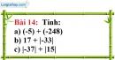 Bài 14 trang 80 Vở bài tập toán 6 tập 1