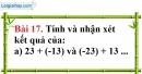 Bài 17 trang 82 Vở bài tập toán 6 tập 1