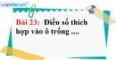 Bài 23 trang 85 Vở bài tập toán 6 tập 1