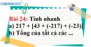 Bài 24 trang 85 Vở bài tập toán 6 tập 1