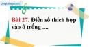 Bài 27 trang 87 Vở bài tập toán 6 tập 1