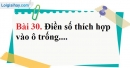 Bài 30 trang 89 Vở bài tập toán 6 tập 1