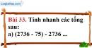 Bài 33 trang 91 Vở bài tập toán 6 tập 1