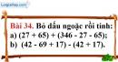 Bài 34 trang 92 Vở bài tập toán 6 tập 1