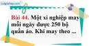 Bài 44 trang 97 Vở bài tập toán 6 tập 1