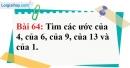 Bài 64 trang 44 Vở bài tập toán 6 tập 1