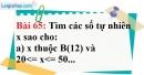 Bài 65 trang 44 Vở bài tập toán 6 tập 1