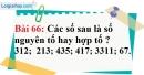 Bài 66 trang 46 Vở bài tập toán 6 tập 1