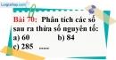 Bài 70 trang 48 Vở bài tập toán 6 tập 1