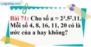 Bài 71 trang 50 Vở bài tập toán 6 tập 1