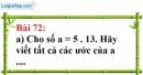 Bài 72 trang 50 Vở bài tập toán 6 tập 1