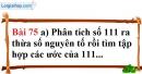 Bài 75 trang 52 Vở bài tập toán 6 tập 1