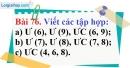 Bài 76 trang 53 Vở bài tập toán 6 tập 1
