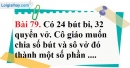 Bài 79 trang 54 Vở bài tập toán 6 tập 1