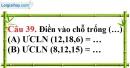 Phần câu hỏi bài 17 trang 56 Vở bài tập toán 6 tập 1