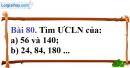 Bài 80 trang 56 Vở bài tập toán 6 tập 1