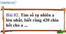 Bài 82 trang 58 Vở bài tập toán 6 tập 1