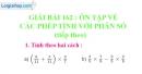 Bài 162 : Ôn tập về các phép tính với phân số (tiếp theo)