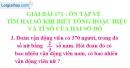 Bài 171 : Ôn tập về tìm hai số khi biết tổng hoặc hiệu và tỉ số của hai số đó