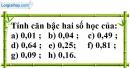 Bài 1 trang 5 SBT toán 9 tập 1