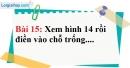 Bài 15 trang 127 Vở bài tập toán 6 tập 1