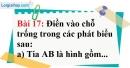 Bài 17 trang 129 Vở bài tập toán 6 tập 1