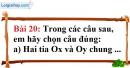 Bài 20 trang 129 Vở bài tập toán 6 tập 1