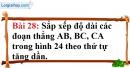 Bài 28 trang 134 Vở bài tập toán 6 tập 1